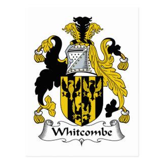 Escudo de la familia de Whitcombe Tarjeta Postal