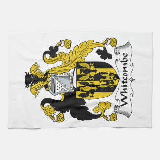 Escudo de la familia de Whitcombe Toalla De Cocina
