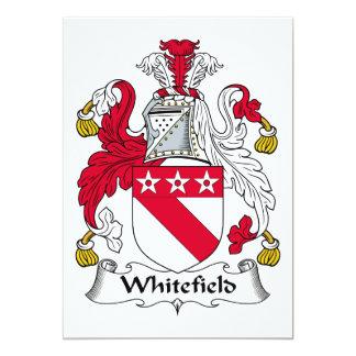 Escudo de la familia de Whitefield Comunicados Personalizados