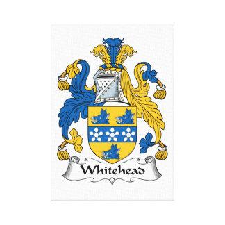 Escudo de la familia de Whitehead Impresiones De Lienzo