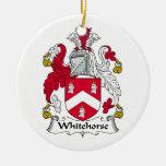 Escudo de la familia de Whitehorse Ornamento De Navidad