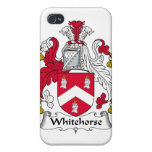 Escudo de la familia de Whitehorse iPhone 4 Cárcasa