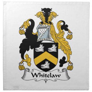 Escudo de la familia de Whitelaw Servilleta
