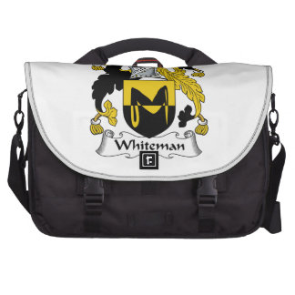 Escudo de la familia de Whiteman Bolsas De Ordenador