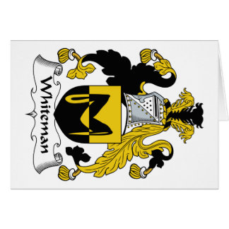 Escudo de la familia de Whiteman Felicitacion