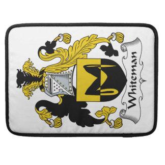Escudo de la familia de Whiteman Fundas Macbook Pro
