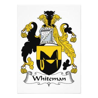 Escudo de la familia de Whiteman Invitación