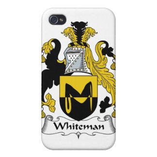 Escudo de la familia de Whiteman iPhone 4 Cárcasa