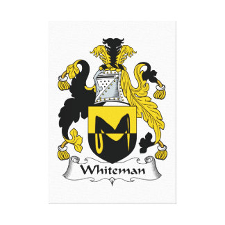 Escudo de la familia de Whiteman Impresiones De Lienzo