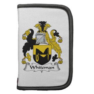 Escudo de la familia de Whiteman Planificador