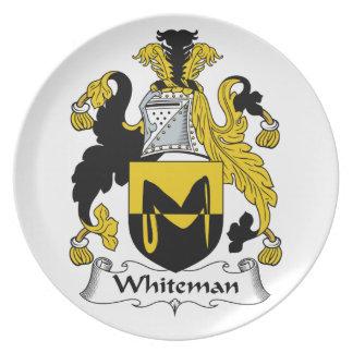 Escudo de la familia de Whiteman Plato