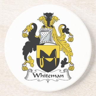 Escudo de la familia de Whiteman Posavasos Personalizados