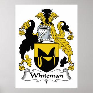 Escudo de la familia de Whiteman Poster