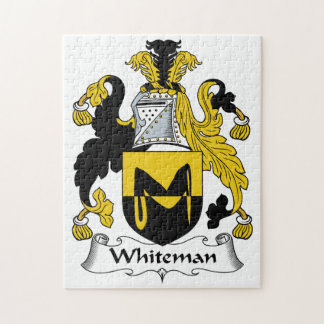 Escudo de la familia de Whiteman Rompecabezas Con Fotos