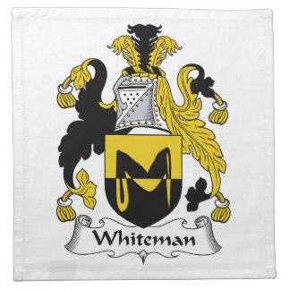 Escudo de la familia de Whiteman Servilletas De Papel