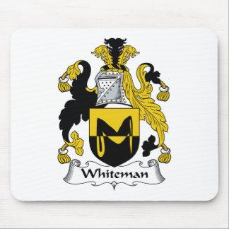 Escudo de la familia de Whiteman Alfombrillas De Raton