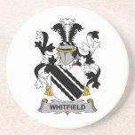 Escudo de la familia de Whitfield Posavaso Para Bebida