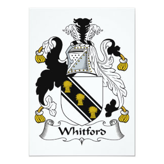 Escudo de la familia de Whitford Invitaciones Personales