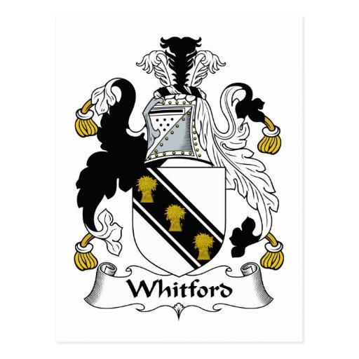 Escudo de la familia de Whitford Postal