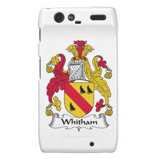 Escudo de la familia de Whitham Motorola Droid RAZR Carcasas
