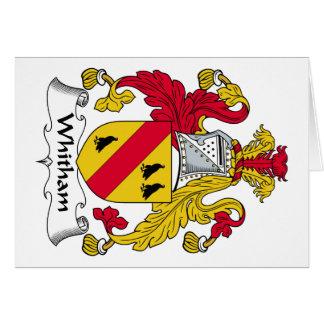 Escudo de la familia de Whitham Tarjeta De Felicitación