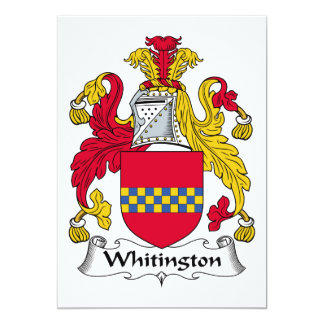 Escudo de la familia de Whitington Comunicado