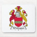 Escudo de la familia de Whitington Alfombrillas De Raton
