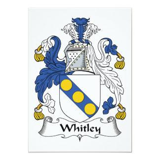Escudo de la familia de Whitley Invitacion Personal