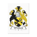 Escudo de la familia de Whitlock Lona Envuelta Para Galerias