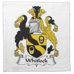 Escudo de la familia de Whitlock Servilleta Imprimida