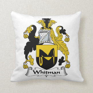 Escudo de la familia de Whitman Cojín