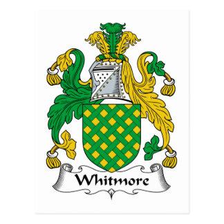 Escudo de la familia de Whitmore Tarjetas Postales