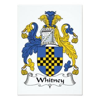 Escudo de la familia de Whitney Invitaciones Personalizada