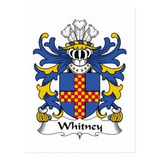 Escudo de la familia de Whitney Tarjeta Postal