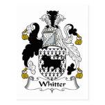 Escudo de la familia de Whitter Tarjeta Postal