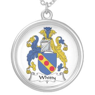 Escudo de la familia de Whitty Colgante Redondo