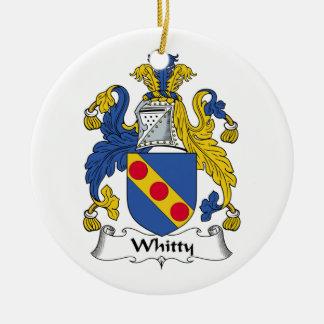 Escudo de la familia de Whitty Adorno Redondo De Cerámica