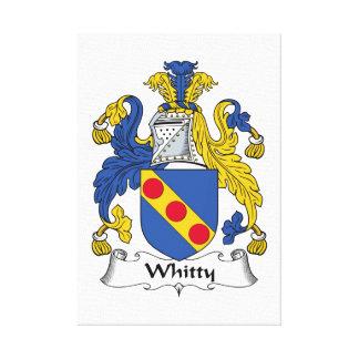 Escudo de la familia de Whitty Impresión En Lona