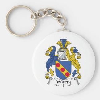 Escudo de la familia de Whitty Llavero Redondo Tipo Pin