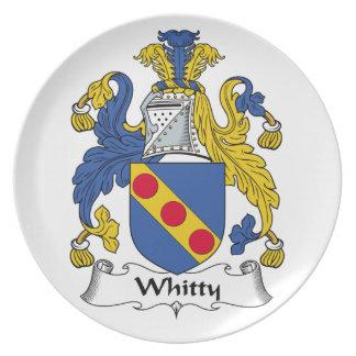 Escudo de la familia de Whitty Platos De Comidas