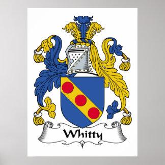 Escudo de la familia de Whitty Póster