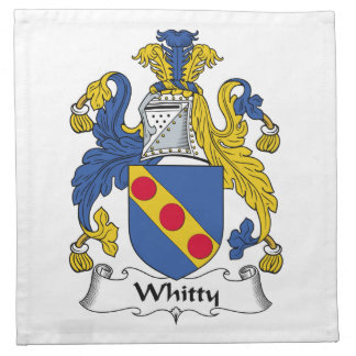 Escudo de la familia de Whitty Servilletas De Papel