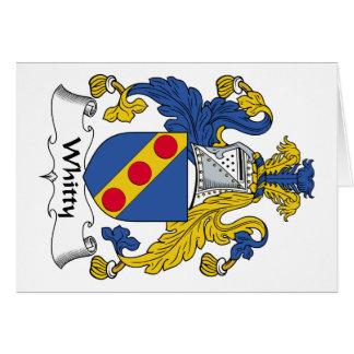 Escudo de la familia de Whitty Tarjeta De Felicitación