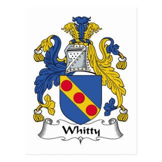 Escudo de la familia de Whitty Tarjetas Postales