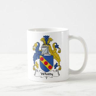 Escudo de la familia de Whitty Taza Básica Blanca