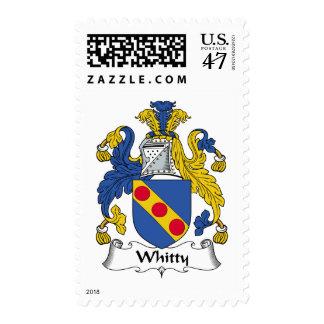 Escudo de la familia de Whitty Timbre Postal