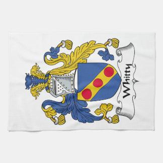 Escudo de la familia de Whitty Toalla De Cocina
