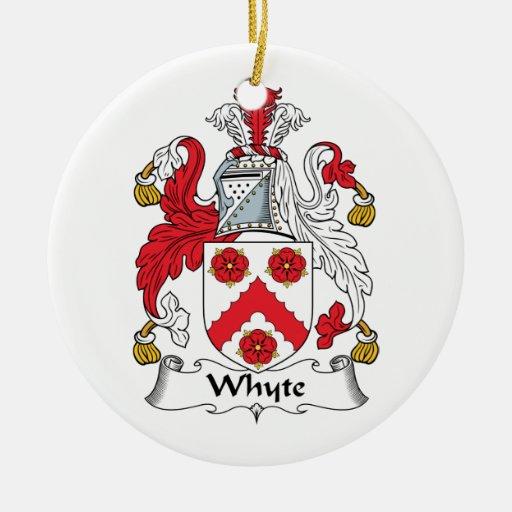Escudo de la familia de Whyte Adorno De Navidad