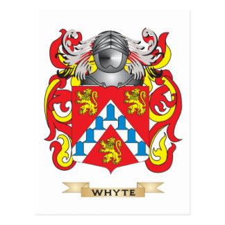 Escudo de la familia de Whyte (escudo de armas) Postal