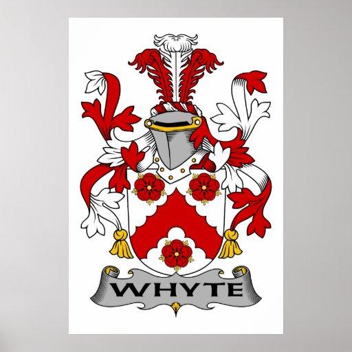Escudo de la familia de Whyte Poster